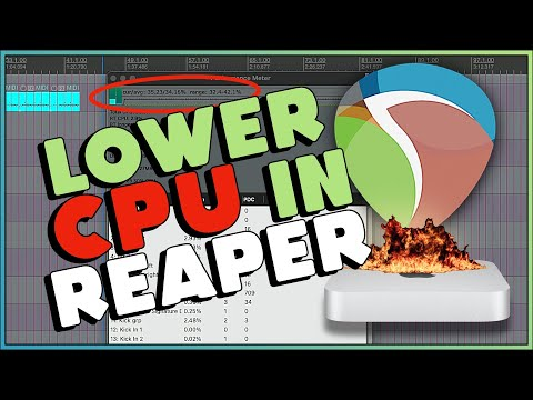 4 ways to reduce CPU load in REAPER