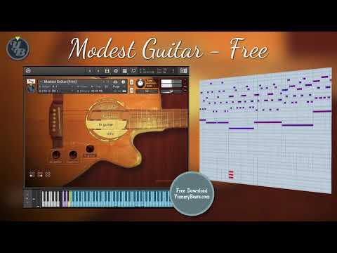 Modest Guitar Free, Acoustc Guitar & Flageolets for Kontakt 5 (free download)
