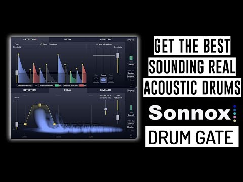 Get Great Sounding Real Acoustic Drums: Sonnox Intelligent Drum Gate