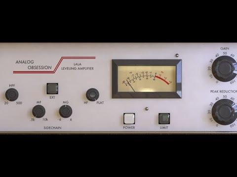 Analog Obsession LALA | FREE Teletronix LA2A Compressor Limiter Amplifier Plugin VST AU | Demo Test