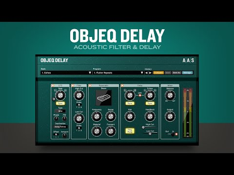 Objeq Delay acoustic filter and delay plug-in VST AU AAX