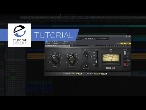 Mixing Vocals in Studio One with Waves Plugins - Part 2 - CLA-76 Compressor / Limiter
