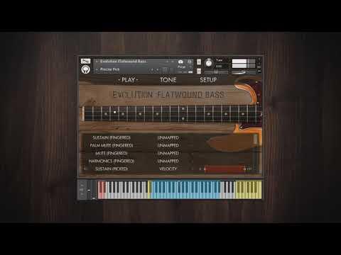 Evolution Flatwound Bass - Factory Presets Demo