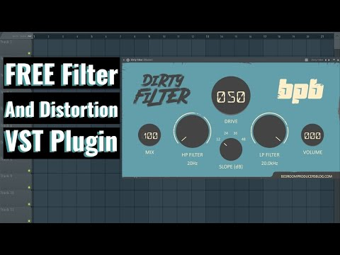 Dirty Filter FREE Filter/Distortion VST Plugin By Bedroom Producer Blog Review And Demo