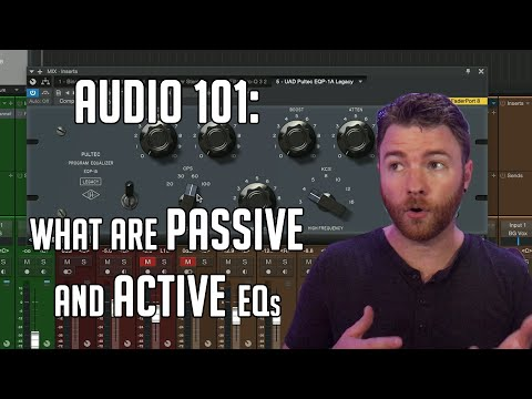 What is the difference between Passive and Active EQ's