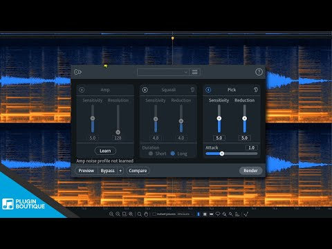 How to Remove Guitar Squeaks with RX 8 by iZotope Guitar De-Noise Module