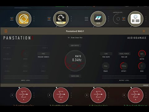 Panstation2 by Audio Damage - Creative Panning AUv3 - Demo for the iPad