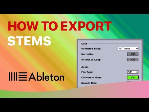 How To EXPORT STEMS in Ableton Live