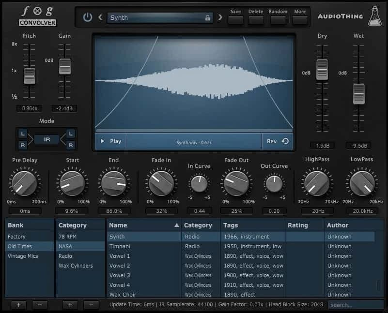 AudioThing Fog Convolver Review - 29 Best Sound Design VST Plugins | Integraudio.com