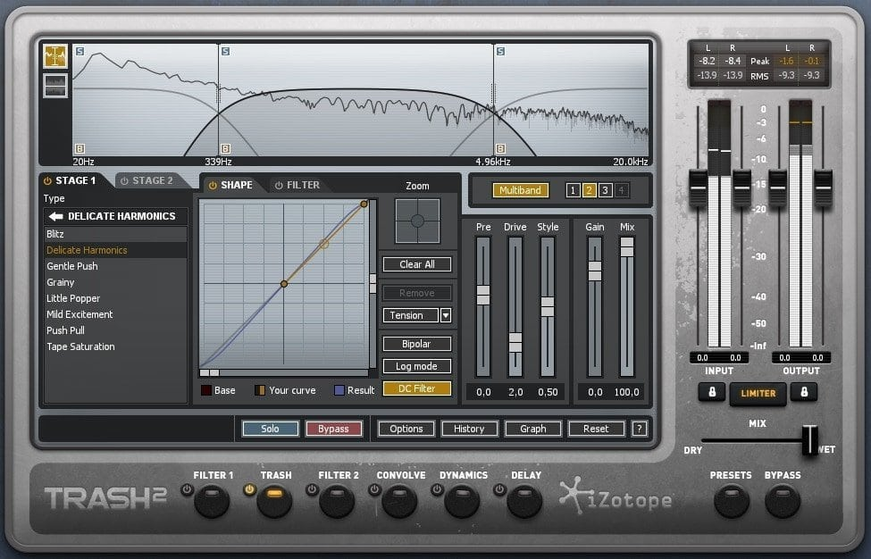 iZotope Trash 2 Review - 29 Best Sound Design VST Plugins | Integraudio.com