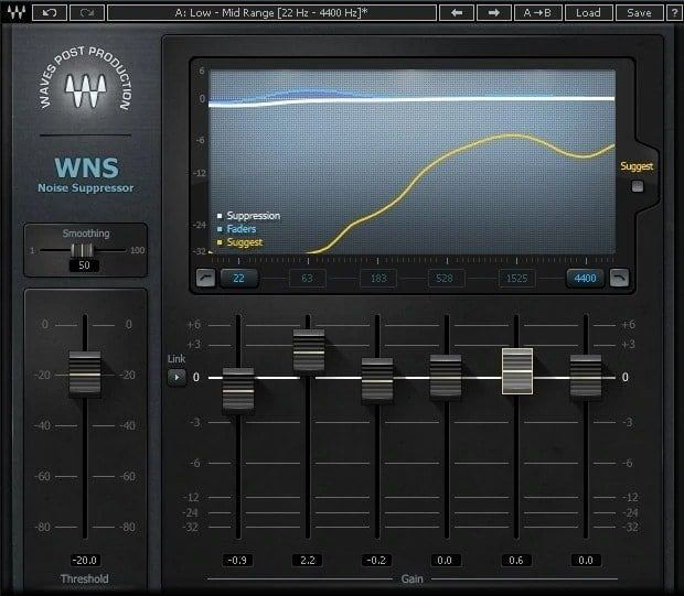 Waves WNS Noise Suppressor Review - 33 Best WAVES Plugins of 2020 | Integraudio.com