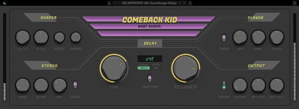 BABY Audio Comeback Kid Review - 15 Best Delay Plugins | Integraudio.com