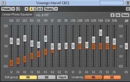 Voxengo Marvel GEQ Review - 17 Best Free EQ VST Plugins | Integraudio.com