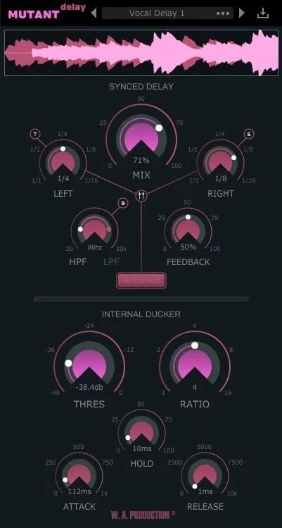 W.A Production Mutant Delay Review - 15 Best Delay Plugins | Integraudio.com