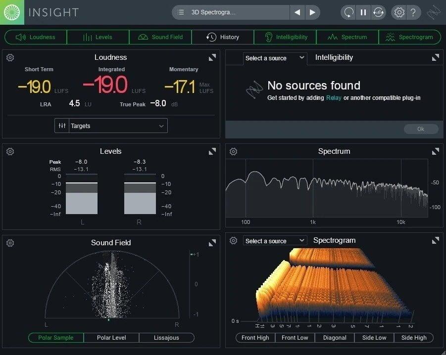 Izotope Insight 2 - Top 6 Spectrum Analyzer Plugins Of 2020 - Spectral Analysis Tools | Integraudio.com