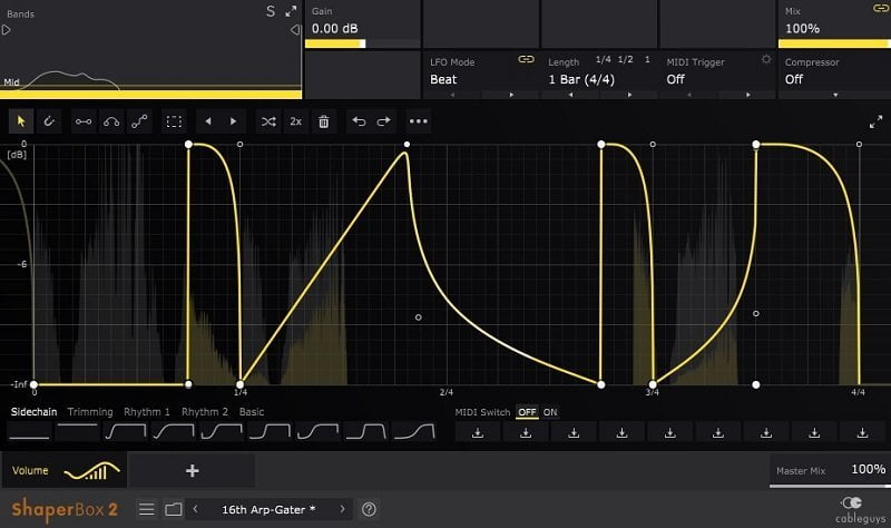 Cableguys VolumeShaper 6 Review - 7 Best Sidechain Plugins | Integraudio.com