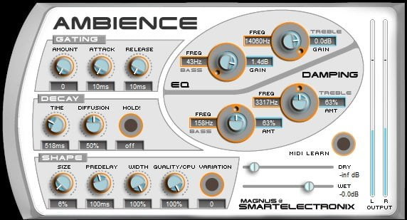 Magnus Ambience - The 10 Best FREE Reverb VST Plugins 2021 | Integraudio.com