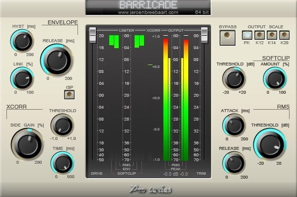 Barricade Pro - The 10 Best Cheap Limiter Plugins 2021 (And 4 FREE Plugins) VST, VST3, RTAS, AU,AAX | Integraudio.com