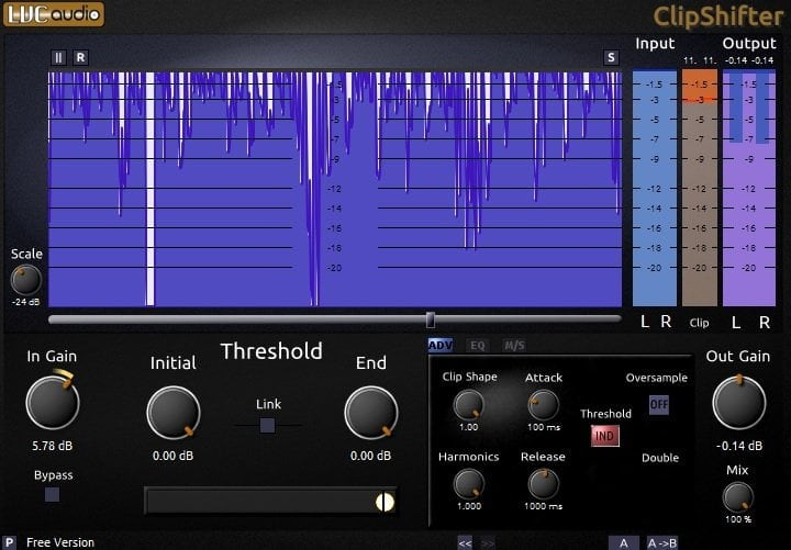 LVC-Audio ClipShifter - The 10 Best Cheap Limiter Plugins 2021 (And 4 FREE Plugins) VST, VST3, RTAS, AU,AAX | Integraudio.com