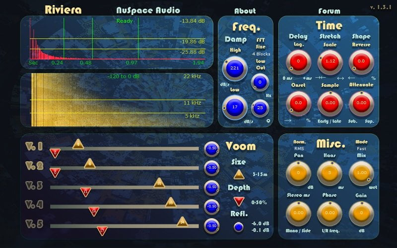NuSpace Audio Riviera - The 10 Best FREE Reverb VST Plugins 2021 | Integraudio.com