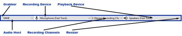 Audacity Device Toolbar