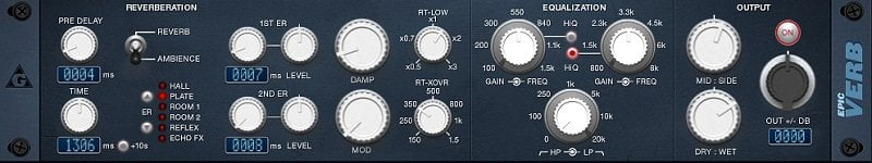 epicVerb - The 10 Best FREE Reverb VST Plugins 2021 | Integraudio.com