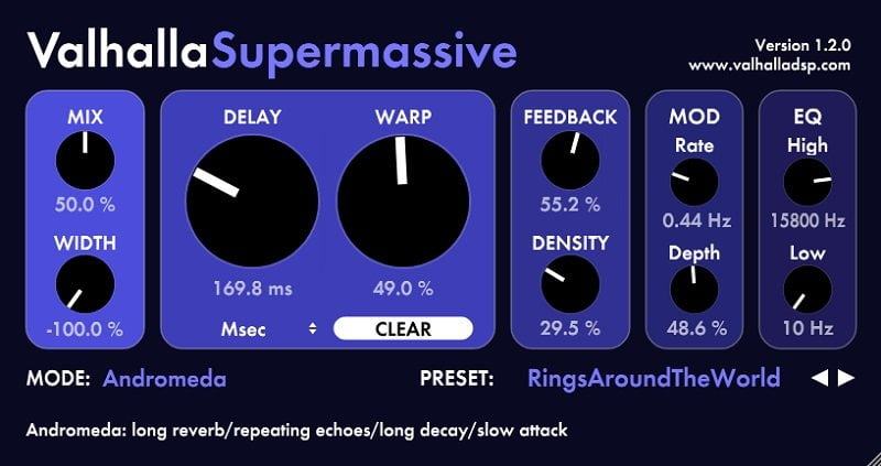 Valhalla Supermassive - The 10 Best FREE Reverb VST Plugins 2021 | Integraudio.com