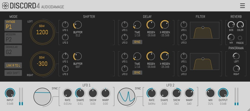 Audio Damage Discord 4 - The 6 Best Pitch Shifter Plugins (With 3 FREE Pitch Shifter Plugins)