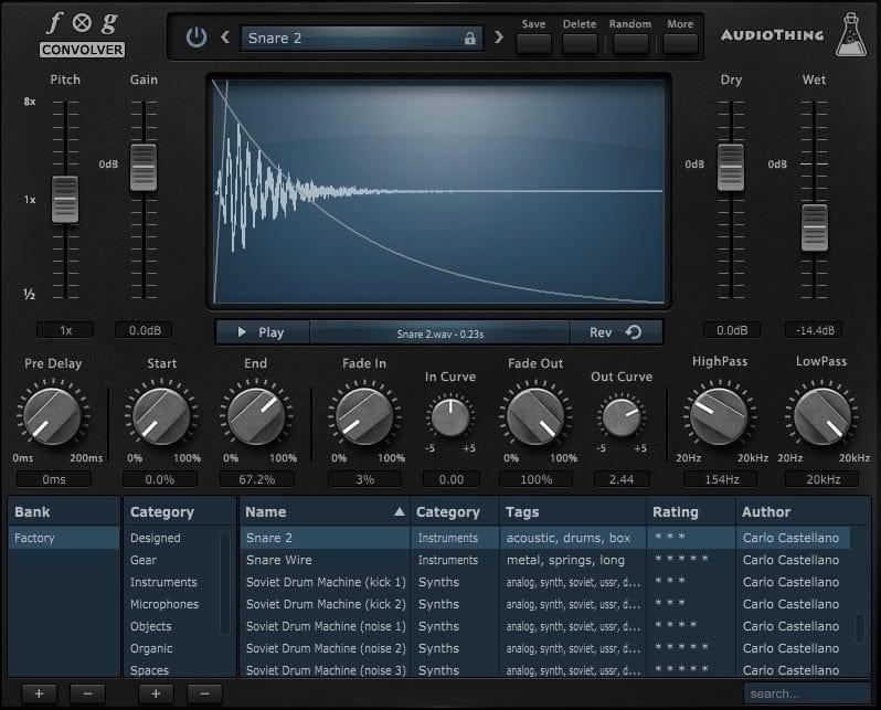AudioThing Fog Convolver - The 10 Best Convolution Reverb Plugins   Integraudio.com