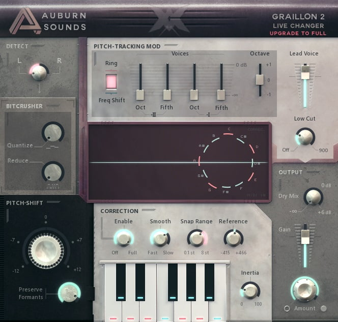 Auburn Sounds Graillon - The 6 Best Pitch Shifter Plugins 2021 (With 3 FREE Pitch Shifter Plugins)