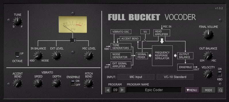 Full Bucket Music FBVC (Vocoder) - 30 Best Free Plugins For Complete Music Production 2021 | Integraudio.com