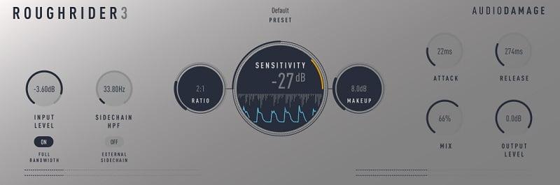 Audio Damage Rough Rider 3 (Compressor) - 30 Best Free Plugins For Complete Music Production 2021 | Integraudio.com