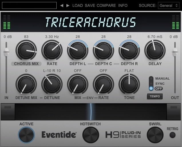 Eventide TriceraChorus Review - Top 6 Chorus Plugins 2021 For Musicians (VST, AU, AAX)