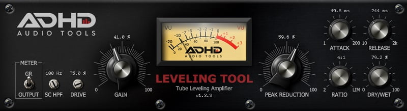 ADHD Leveling Tool (Opto Compressor) - 30 Best Free Plugins For Complete Music Production 2021 | Integraudio.com