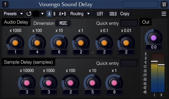 Voxengo Sound Delay - 30 Best Free Plugins For Complete Music Production 2021 | Integraudio.com