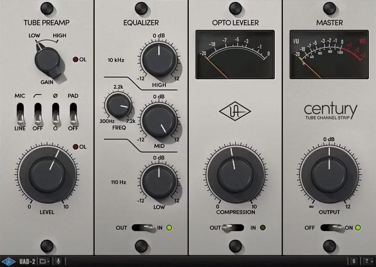 Century Tube Channel Strip - Top 7 Channel Strip Plugins (And 2 Best Free Plugins)   Integraudio.com