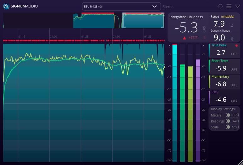 BUTE Loudness Analyser 2 Stereo Review - Top 5 Audio Metering Plugins (LUFS, RMS, LRA, True Peak)   Integraudio.com