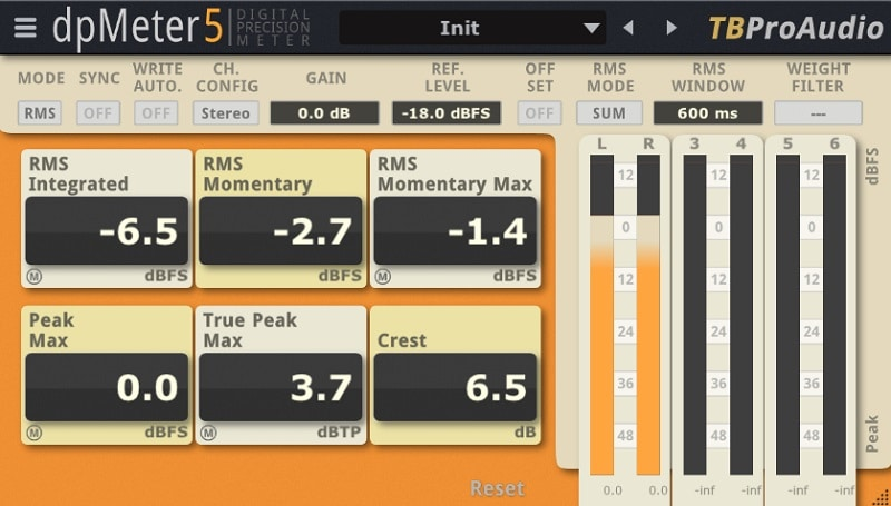 TBProAudio dpMeter5 Review - The 4 Best FREE Audio Metering Plugins (LUFS, RMS, LRA, True Peak)   Integraudio.com