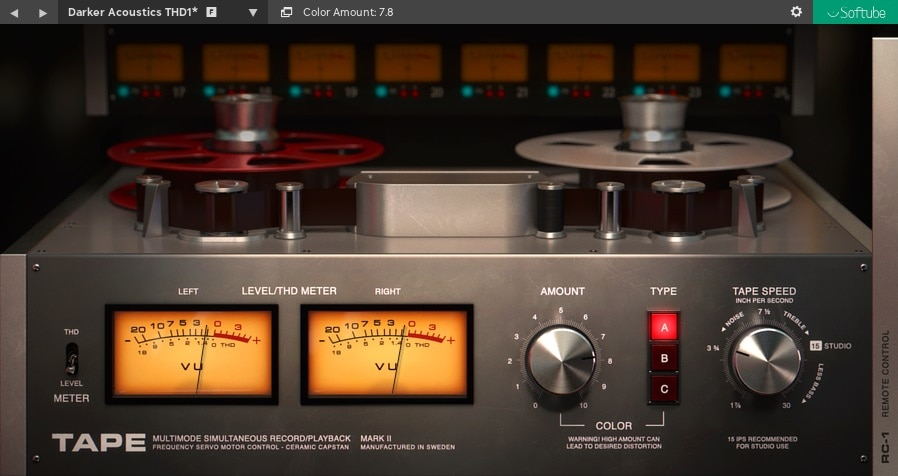 Softube Tape - Top 13 Saturation & Tape Emulation Plugins (VST,AU,AAX) | Integraudio.com