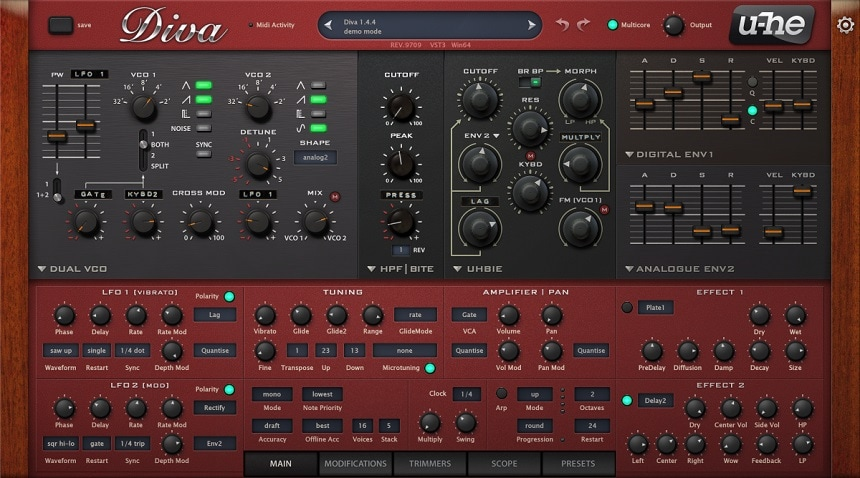 u-he Diva Review - The 13 Best Synth & Instrument Plugins (And 5 Best FREE Synth Plugins) | Integraudio.com