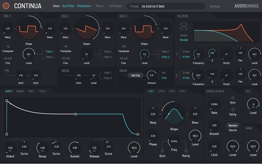Audio Damage Continua Review - Top 13 VST Synth & Instrument Plugins (And 5 Best FREE Synth Plugins) | Integraudio.com