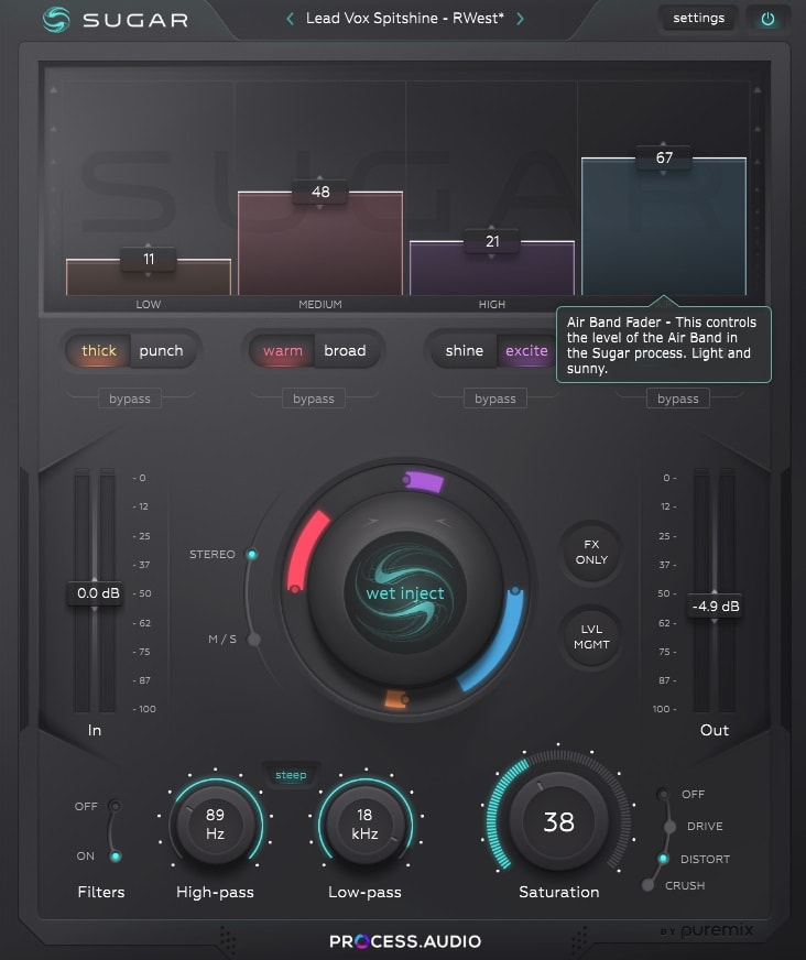 PROCESS.AUDIO - Sugar Review - Top 7 Exciter Plugins & 3 Best Free Exciters (For Mixing & Mastering)   Integraudio.com
