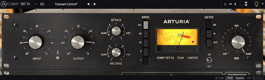 Arturia Comp FET-76 Review - Top 10 Best FET Compressor Plugins   integraudio.com