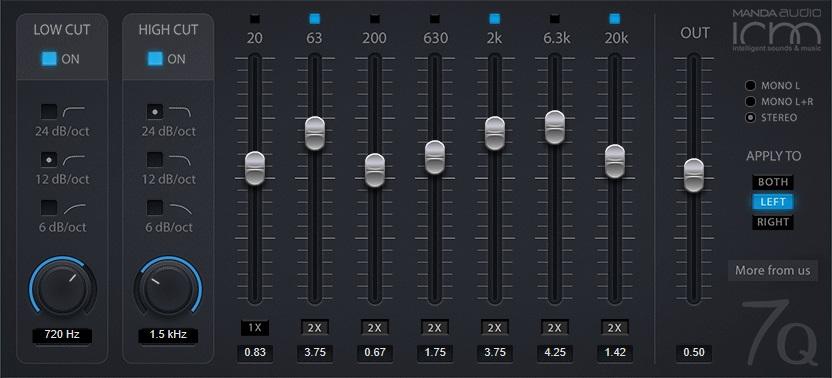 Manda Audio 7Q Review - Top 10 Free EQ Plugins | Integraudio.com