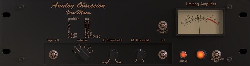 Analog Obsession Varimoon Review - Top 11 Free Compressor Plugins 2021 (VCA, Vari-Mu, FET, Digital) | Integraudio.com