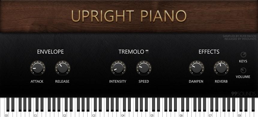 99Sounds Upright Piano - The 5 Best Free Piano Plugins | Integraudio.com