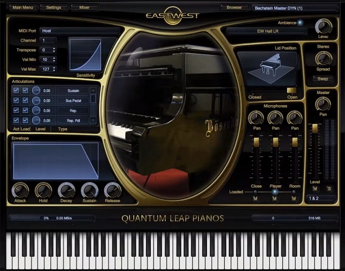 EastWest Quantum Leap Pianos Gold Review - The 8 Best Piano Plugins (And 5 Best Free Pianos) | Integraudio.com