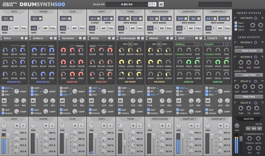AIR Drum Synth 500 Review - Top 11 Drums & Percussion Plugins (And 5 Best FREE Plugins) | Integraudio.com