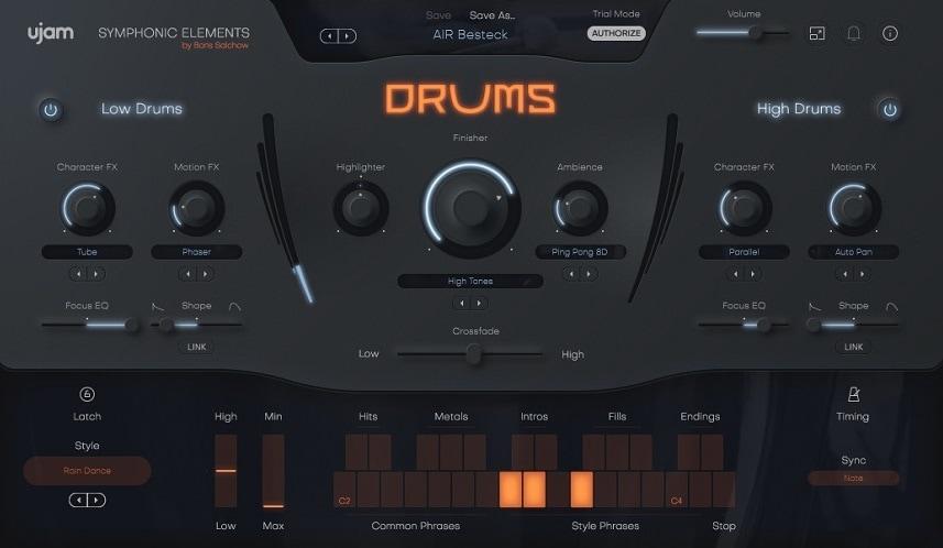 UJAM Symphonic Elements DRUMS Review - Top 7 Film Scoring Plugins 2021 (And 7 Best Kontakt Sample Libraries) | Integraudio.com