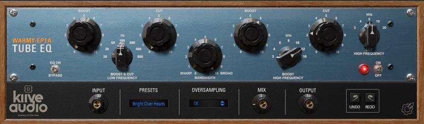 Kiive Audio Warmy EP1A Tube EQ Review - Top 10 Free EQ Plugins | Integraudio.com